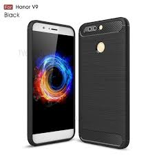 huawei honor 8 pro. carbon fibre brushed tpu case for huawei honor 8 pro / v9 - black- b