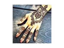 Přírodní Tmavá Henna Tetování