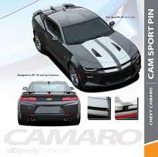 Chevy Camaro Racing Stripes With Outlines Cam Sport Pin 2016 2018 Rally Decal Graphics Premium Auto Striping Chevy Camaro Racing Stripes Camaro