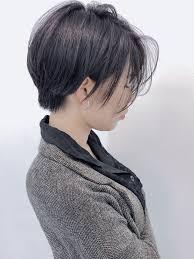 大人可愛い 黒髪 ショートボブ ショートモリオフロムロンドン Tsugumi