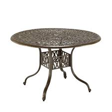 home styles fl blossom 42 in round taupe patio dining table