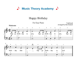 For over 20 years we have provided legal access to free sheet music. Happy Birthday Music Theory Academy Easy Piano Sheet Music