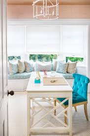 turquoise office decor. home office massucco warner miller interior design turquoise decor