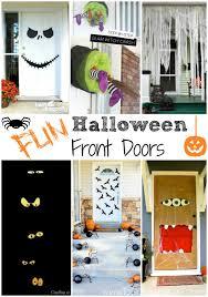 front door decorationFun Halloween Front Door Decorations