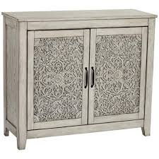 white console cabinet. Weathered White Carved 2-Door Console Cabinet G