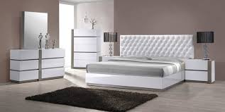 bedroom modern white. Modern White Tufted Headboard Bed Group Contemporary-bedroom Bedroom M