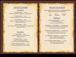 Menu Card Of Restaurant Samples Kadil Carpentersdaughter Co