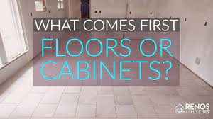 what es first flooring or cabinets