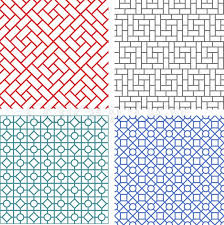 Line Pattern Enchanting Seamless Mesh Line Pattern In Korean Style Stock Vector Colourbox