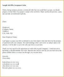 Thanks For Offer Letter Job Offer Acceptance Letter From Employer Lupark Co