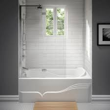 raised backrest rectangle bath with integral front skirt