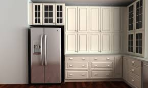 Metal Kitchen Cabinet Doors Kitchen Amusing Over Refrigerator Kitchen Cabinets With Double