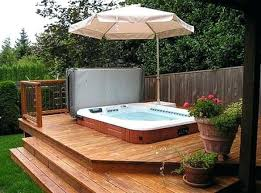 Hot Tub Backyard Ideas Plans Awesome Inspiration Design