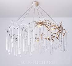 3d модели Люстры john richard brass and glass teardrop eight brass and glass teardrop seven light chandelier