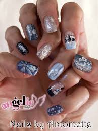 Angel Love Nail Designs Love The Blue Silver And White Christmas Christmas Nail