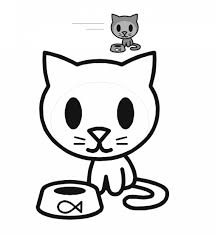 Cute Cat Coloring Pages For Kids With Free Printable Cat Coloring