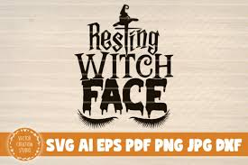 Make some beautiful things for your home, your closet, or as a gift for a dear friend! Resting Witch Face Halloween Sign Graphic By Vectorcreationstudio Creative Fabrica