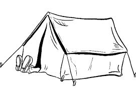 Slapen In De Tent Kleurplaat Jouwkleurplaten