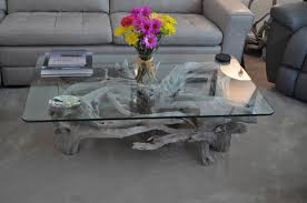 glass coffee table driftwood base driftwood color coffee table natural theme of driftwood coffee table vwho
