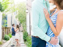 Hilary + Duncan // Preppy Downtown Charleston Engagement Session
