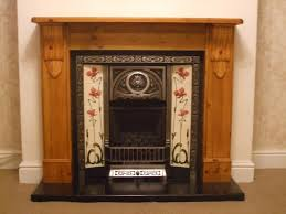 wood fireplace cast insert tiles on granite hearth with legend gas fire hesketh