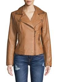 classic faux leather jacket max studio