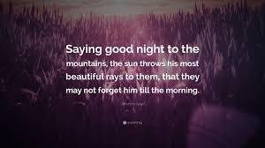 johanna spyri e saying good night to the mountains the sun throws his