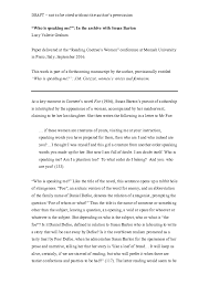 """PDF) """"Who is speaking me?"""": In the archive with Susan Barton 