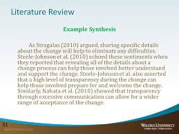 Literature Synthesis Example