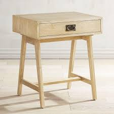 incredible natural whitewash drawer accent table regarding light wood end tables