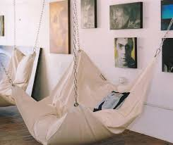 The Beanock Bean Bag Chair is a giant floating bean bag chair that looks  and feels like a hammock, and kind of looks like a giant pillow being held  up via ...