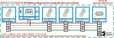 wiring diagram for single lift intercom system zhuhai deling wiring diagram for single lift intercom system
