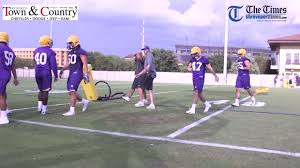 Lsu Football 2017 Depth Chart Tigers This Week On The Field With The Tigers For Practice