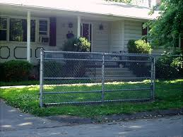 chain link fence double gate. Residential Rolling Gate Chain Link Fence Double