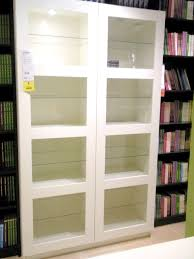 solid wood bookcases glass doors decor trends unique bookcase