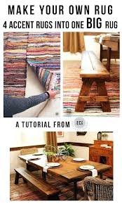 elegant small accent rugs for rug tutorial using 4 rag rugs to make one large dining