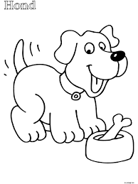 Kleurplaat Peuter Kleurplaat Hond Kleurplatennl Thema Dieren