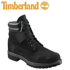 timberland 6 inch double collar boot black