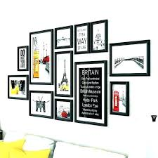 collage wall large frames on frame photo template for hanging picture w
