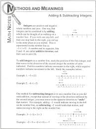 10 best Adding and Subtracting Integers images on Pinterest ...