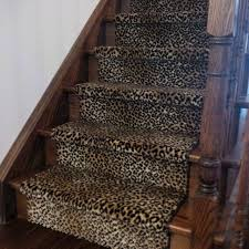 leopard print stair runner traditional staircase toronto