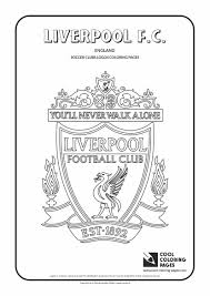 Small Picture Liverpool FC logo coloring Coloring page with Liverpool FC
