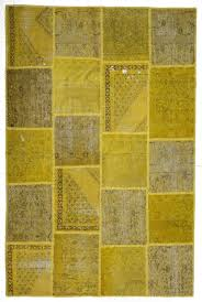 over dyed patchwork rug