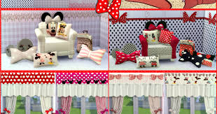 Jennisims: Downloads sims 4:Set Minnie Mouse  Vol3(Stencil,Rugs,Curtains,Wallpaper,Cushions) Faby (12 items) | Sims 4  Updates -♢- Sims 4 Finds & Sims 4 Must Haves -♢-