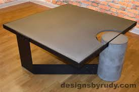 interior concrete top roundtdoor table diy mold care mix australia concrete table top