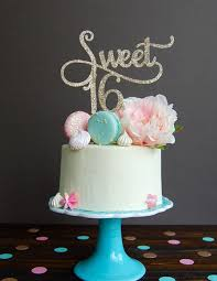 Glitter Gold Sweet 16 Birthday Cake Topper Cake Decoration Party