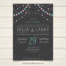 Wedding Card Template Mesmerizing Wedding Invitation Template With Vintage Style Vector Free Download