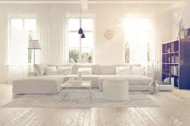 White Furniture For Living Room Modern Spacious Lounge Or Living Room Interior With Monochromatic