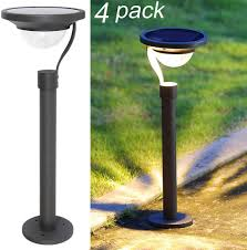 Amazon Prime Solar Garden Lights Twinkle Star 50 Lumens 42x Brighter Solar Path Lights Solar Garden Lights Solar Landscape Lights Outdoor For Lawn Patio Yard Driveway Matte Black 4