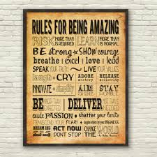 inspirational office decor. Wall Art Designs, Motivational Canvas For Office Sample Wanelo Rules Inspirational Decor